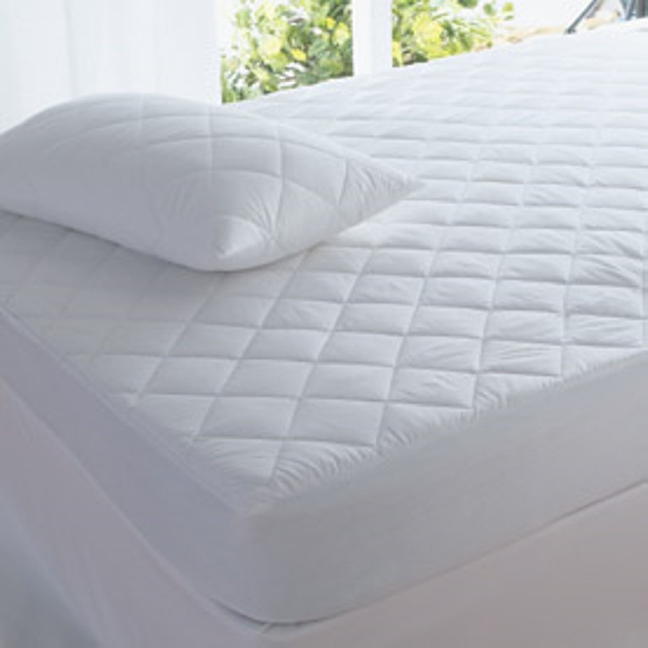 Super King Size Fitted Mattress Protector Quilted 100 Cotton Healthguard Treated The Linen Gallery