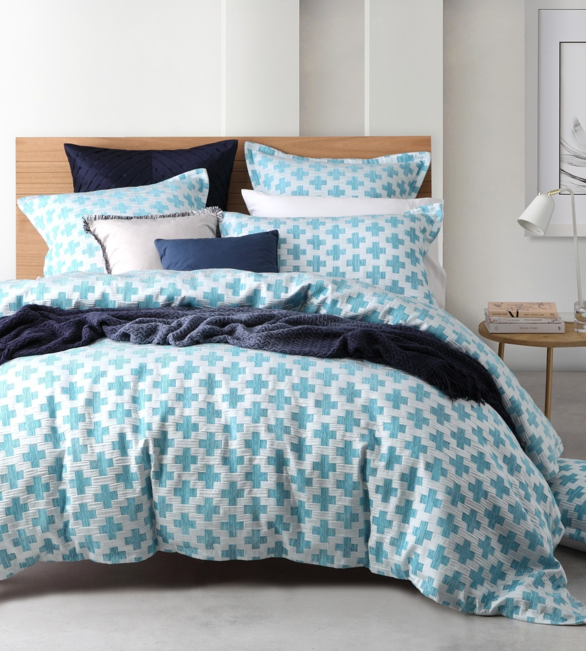 Ford Ocean Queen Quilt Cover Set By Logan Mason