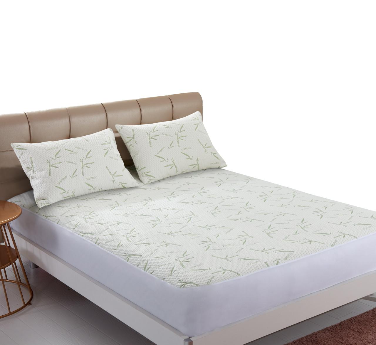 Nature Basics Bamboo Waterproof Mattress Protector Queen Bed Size