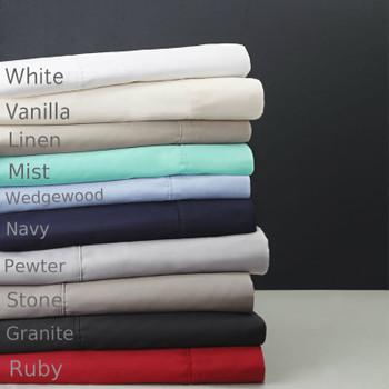 Logan & Mason Pillowcases x 2 (One Pair)   400TC Egyptian Cotton - Standard Size