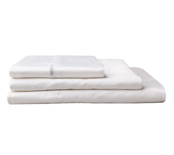 Logan & Mason Super King Fitted Sheet 60cm Deep Wall - White