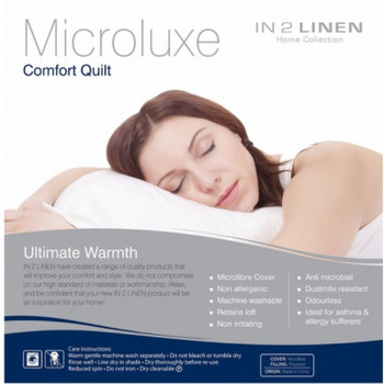 Single Size 500 gsm Microluxe Comfort Winter Quilt