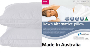 Microloft Microfibre Standard Pillow Firm x 2 Made in Australia