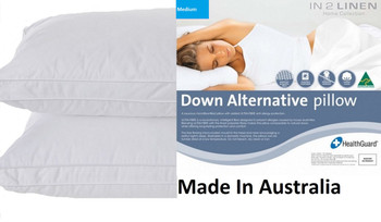 Microloft Microfibre Standard Pillow Soft  x 2 Made in Australia
