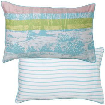 Palms Aqua Quilt Cover Set