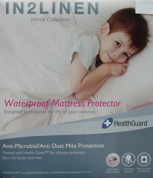 LONG SINGLE  WATERPROOF Mattress Protector Fitted