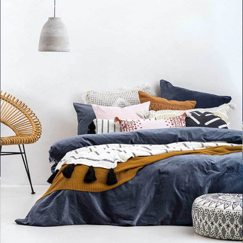 Bohemian Luxe Emerson Slate Quilt Cover Set