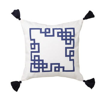 Kowloon Navy Cushion