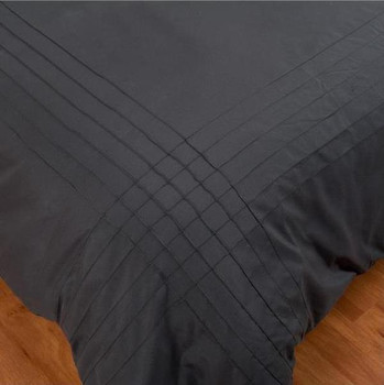 Black Pintuck Quilt Cover Set