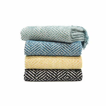 In 2 Linen Chenille Throw Rug Stanford   Turquoise