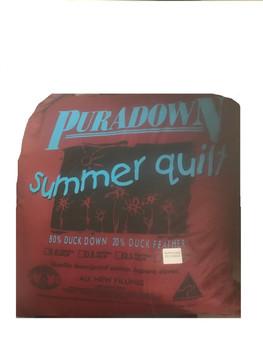 Puradown Duck Down Super King Quilt | Summer