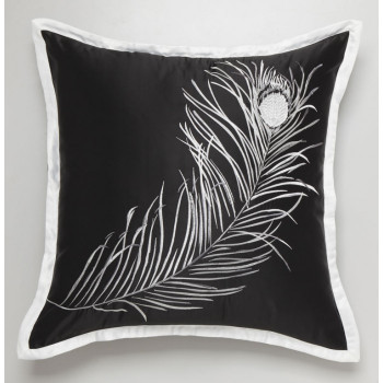 Black Imperial Feathers European Pillowcase