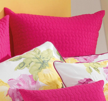 Bianca Floriana Queen Quilt Cover Set, Euros, Cushions - 7 Pce