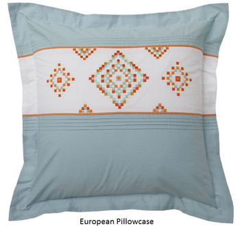 Logan & Mason Santa Fe Teal European Pillowcase