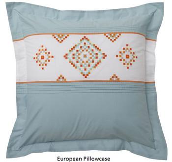 Logan & Mason Santa Fe Teal European Pillowcase