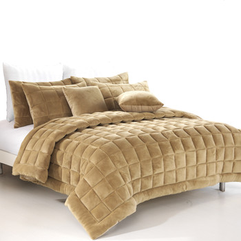 Augusta Single Quilt /Coverlet Set - Latte