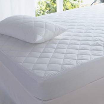 In 2 Linen Fitted Mattress Protector Quilted Double Bed Size