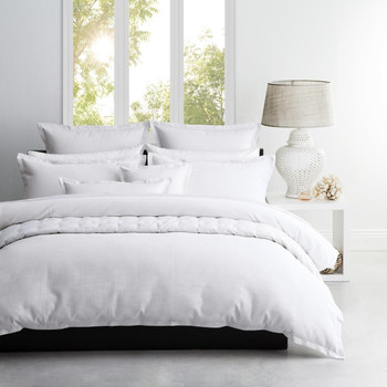 Logan & Mason Ascot White Quilt Cover Set