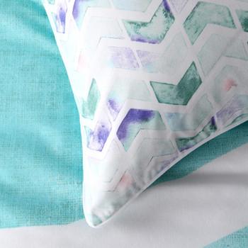 Calippo Teal King Quilt Cover Set + European Pillowcases by Logan & Mason