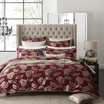 Paddington Red Super King Quilt Cover Set by Private Collection - 6 Pce