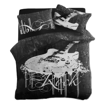 Rock Guitar Quilt Cover Set