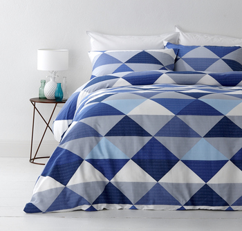 Tanika Blue Quilt Cover Set