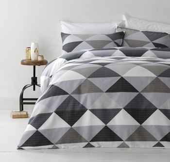 Tanika Grey Quilt Cover Set
