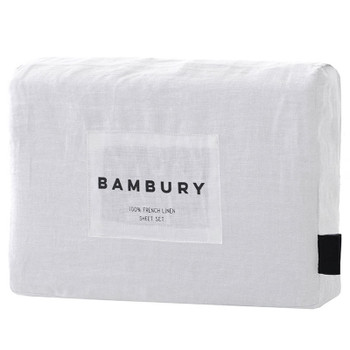 Bambury French Flax Linen Sheet Set - White