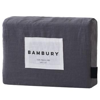 Bambury French Flax Linen Charcoal Sheet Set
