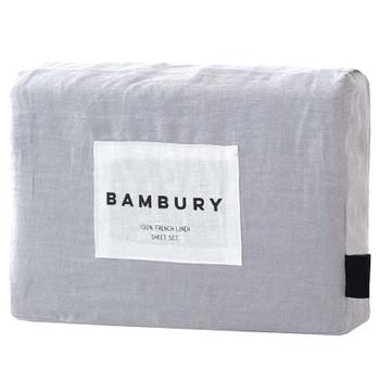 Bambury French Flax Linen Silver Sheet Set