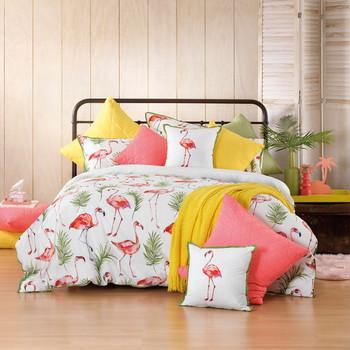 Bianca Flamingo Quilt Cover Set