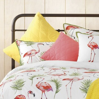 Bianca Flamingo Quilt Cover Set 2