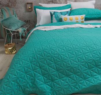 Bambury  Turquoise Regent Coverlet