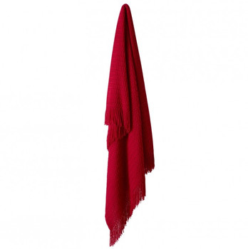 Red Declan Throw Rug by Bianca 130 x 170cm