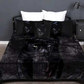 Georges Black Panther Mink Blanket