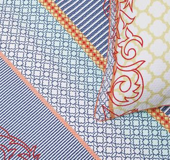 Shanti Turquoise Single Quilt Cover Set by Logan & Mason