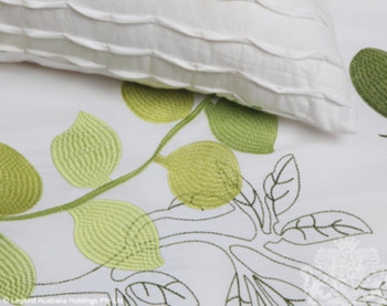 Phoebe Leaf Queen Quilt Cover Set - 8 Pce by Logan & Mason