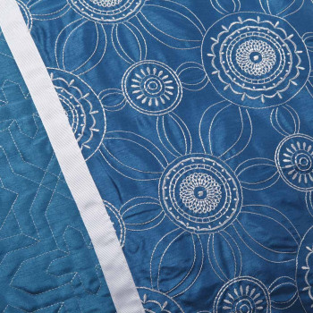 Torquay Blue Double Quilt Cover Set by Logan & Mason