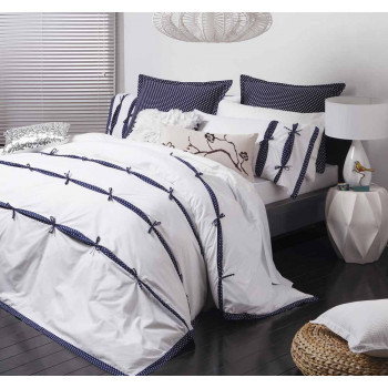 Logan & Mason Anji Navy Quilt Cover Set