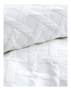 Chiswick White Queen Quilt Cover Set Private Collection | 3 Pce