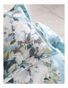 Jessica Blue Queen Quilt Cover Set Private Collection | 6 Pce
