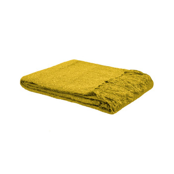 Boucle Throw Rug Chartreuse