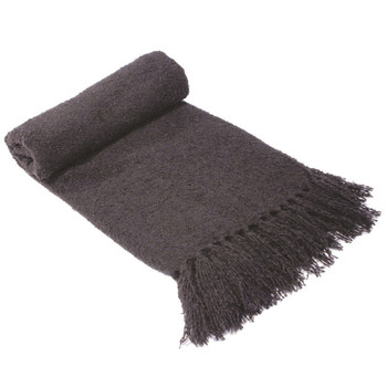 Boucle Throw Rug Charcoal