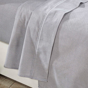 Striped Long Single Flannelette Sheet Set