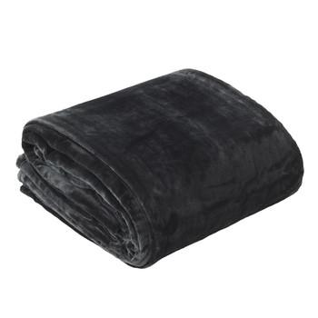 Bianca Charcoal Velvet Blanket
