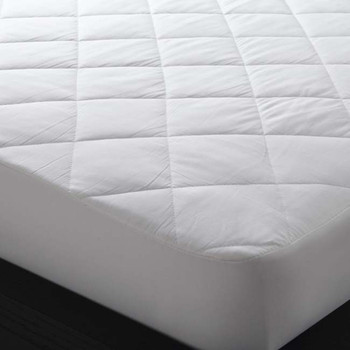 Super King Bed Fitted Mattress Protector 100% Cotton Logan & Mason