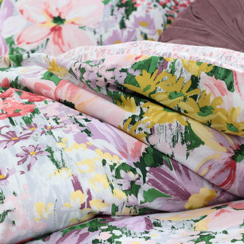 Floral Liberty Bloom Queen Quilt Cover Set by Logan & Mason | 3 Pce