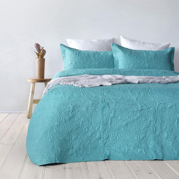 Paisley Peacock Coverlet