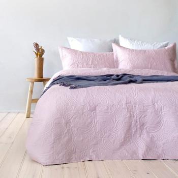 Bambury Dusk Pink Paisley Coverlet