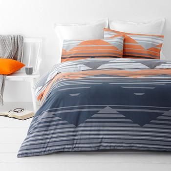 Chevron Orange Quilt Cover Set